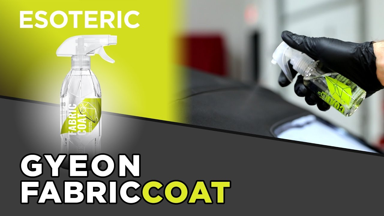 gyeon fabric coat review esoteric car care youtube. Black Bedroom Furniture Sets. Home Design Ideas