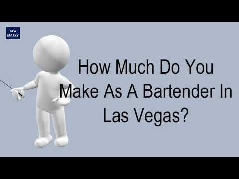 How Much Do You Make As A Bartender In Las Vegas?