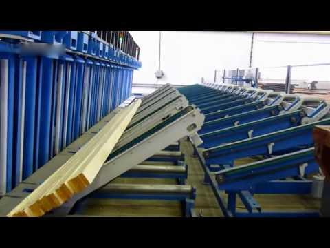 Automatic Press Line for production of KVH / BSH / GLT beams - NEVA - www.neva.cz