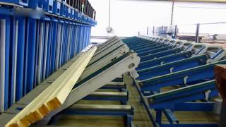 automatic press line for production of kvh bsh glt beams