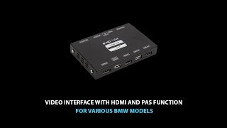 Car Video Adapter with HDMI for BMW and Mini Cooper with CIC-HIGH(NBT), Entry, EntryNAV System