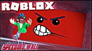 Ho corso attraverso il muro di velocità Roblox schiacciato da Speeding Wall