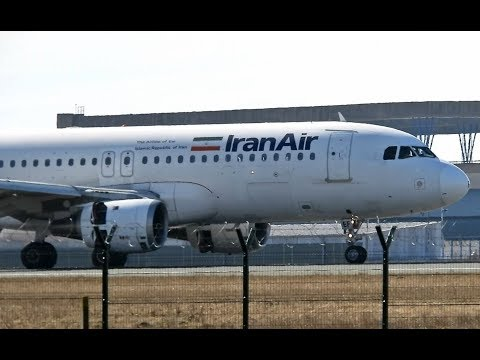 Iran Air Airbus A320-211 First Landing And Takeoff From Belgrade Airport