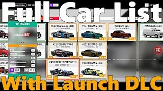 Forza Horizon 4: FULL, IN-GAME CAR LIST! With Formula Drift Car Pack and Best of Bond Car Pack