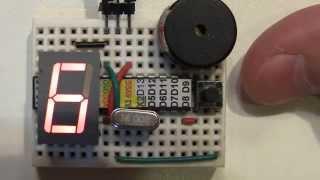 v.01 Arduino Таймер Timer Piezo Семисегментный индикатор Seven-segment display часы clock