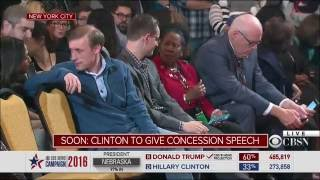 Hillary Clinton addresses supporters
