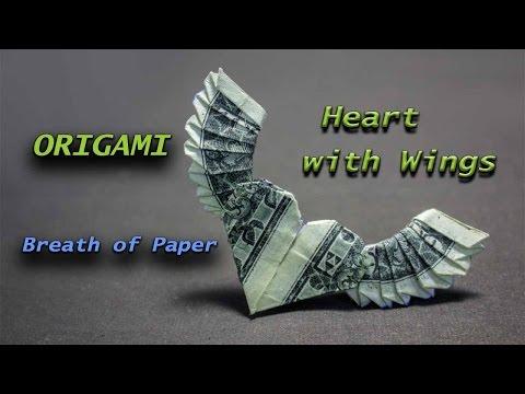 How to make origami heart with wings - Tadokato Kangetsu