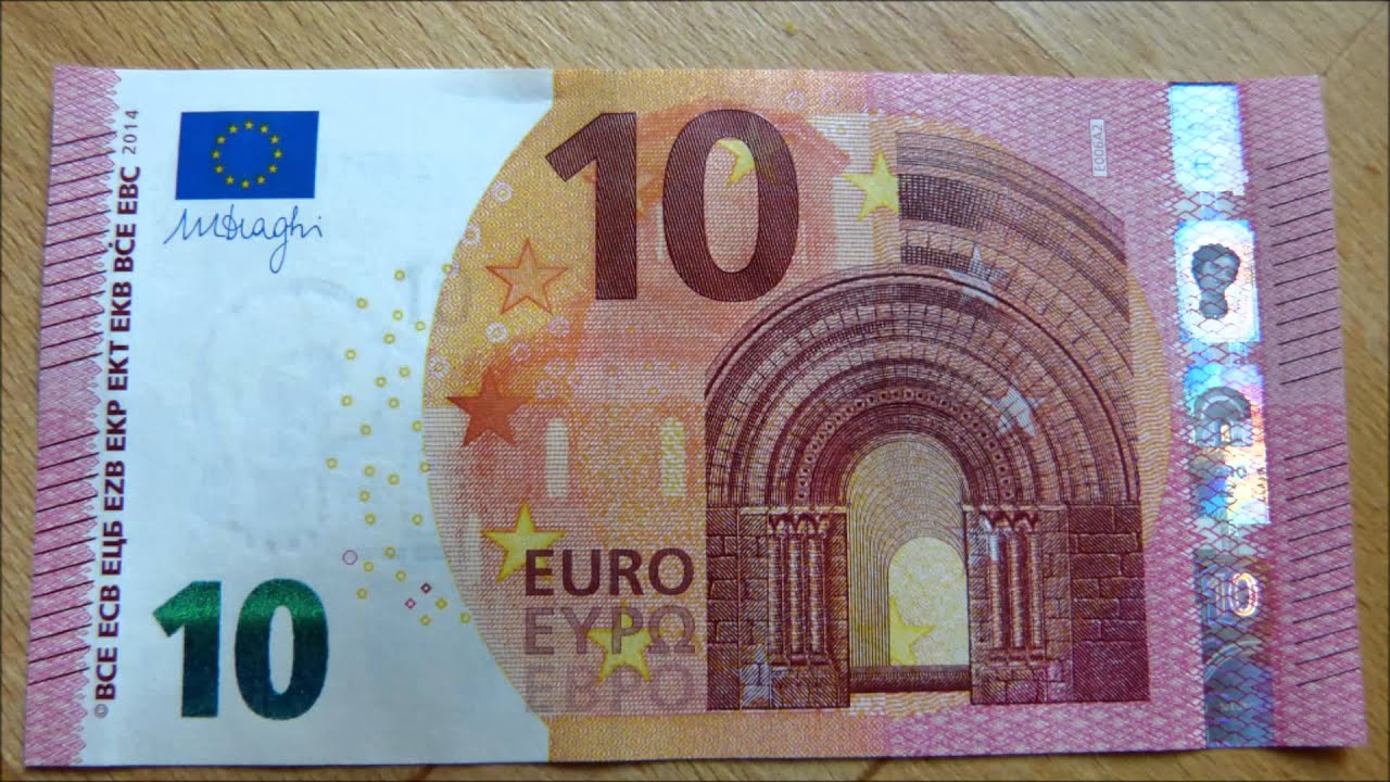 NEW 10 EURO BILL [Europa series] - YouTube