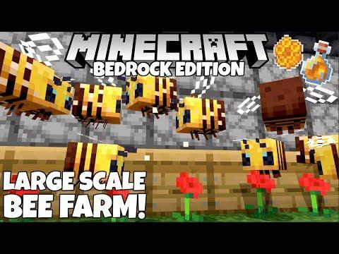 Minecraft Bedrock: Advanced Honey/Honeycomb Farm Tutorial! (Bee Farm) MCPE Xbox PC PS4