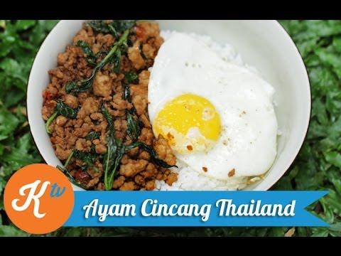 Resep Ayam Cincang Thailand (Thai Minced Chicken/Pad Krapow Recipe ...
