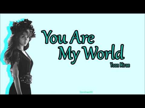 Yoon Mi Rae - You Are My World Lyrics Sub Español The Legend of the Blue Sea OST