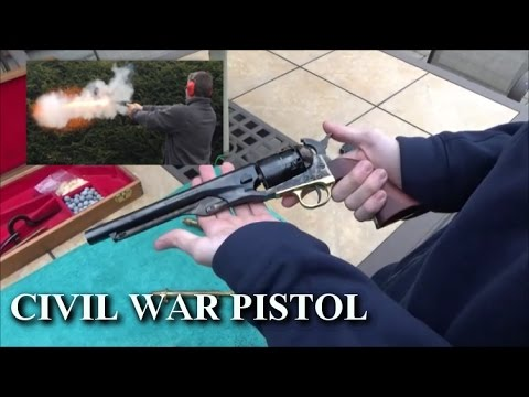 LOADING AND SHOOTING CIVIL WAR PISTOL 1860 COLT ARMY!