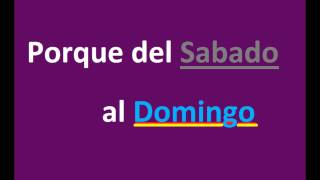 Leccion 32 Adventistas Sabado o Domingo, Cùal es el dia mas importante?