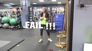 Andrea calle workout blooper