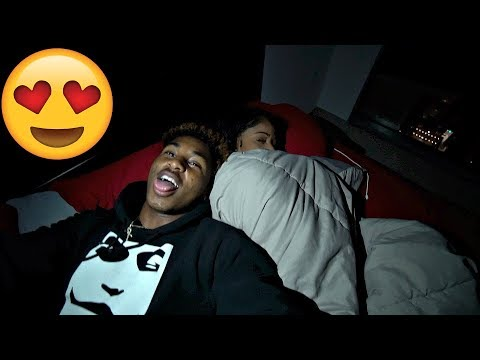 I SNUCK IN THE BED WITH HER!! 😍😜