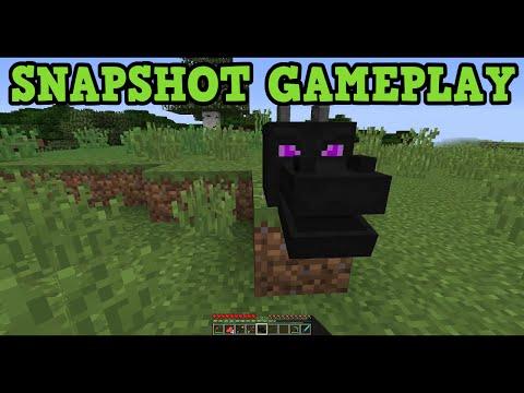 Minecraft 1.9 Snapshot Download NOW + Gameplay - EnderDragon Head