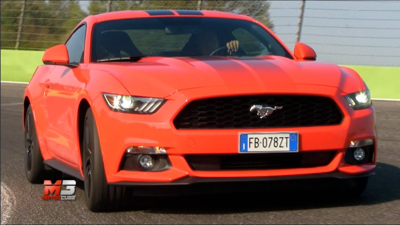 new ford mustang 2 3 ecoboost 2017 first test drive on track youtube. Black Bedroom Furniture Sets. Home Design Ideas