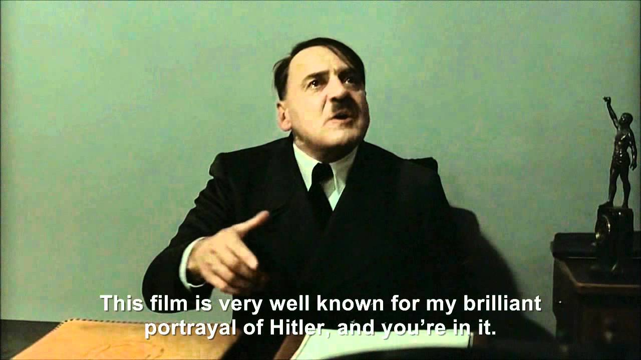 "Hitler is asked ""What's this film called?"""