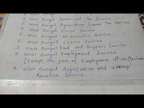 West Bengal Civil Service (W.B.C.S.): Different posts of Groups A, B, C & D