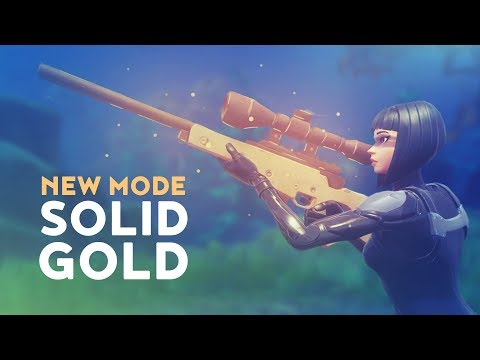 NEW MODE: SOLID GOLD! (Fortnite Battle Royale)