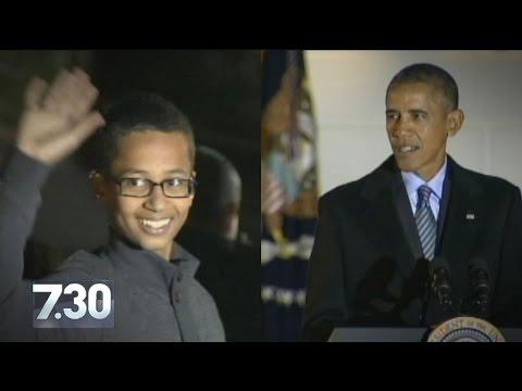 Teen clock-maker Ahmed Mohamed visits White House, President Obama