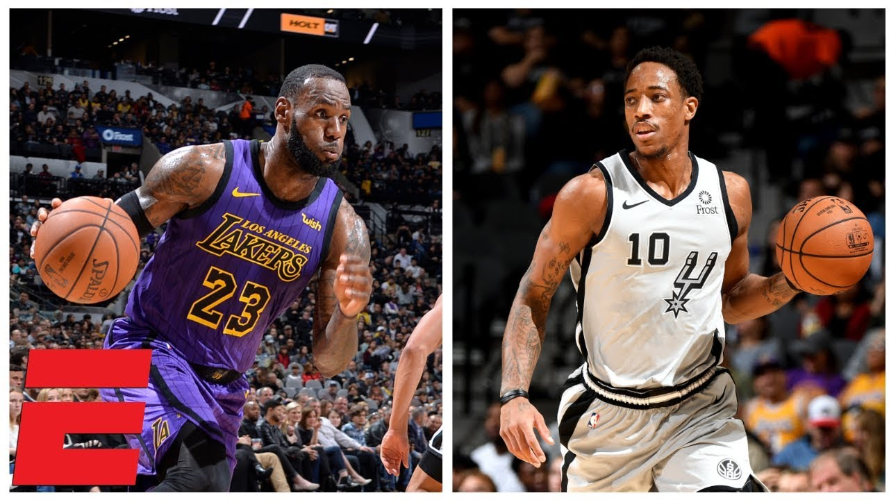 2dc507d96 DeMar DeRozan outduels LeBron James as Spurs rally to beat Lakers ...
