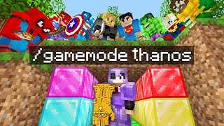 "Minecraft Manhunt but i secretly used an ""INFINITY GAUNTLET"".."