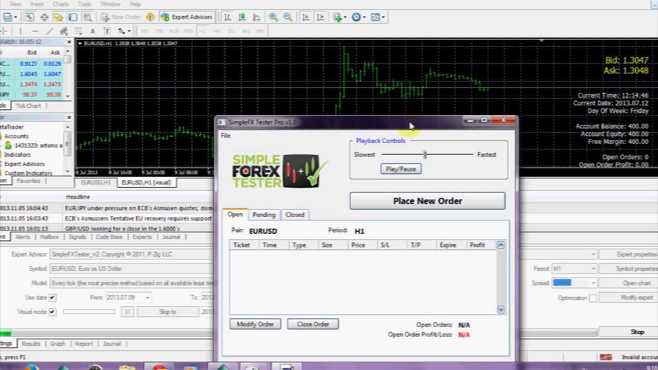 Simple forex tester v2 download