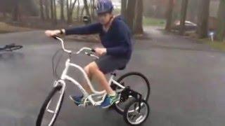 Townie bike with adult stabilizer wheels