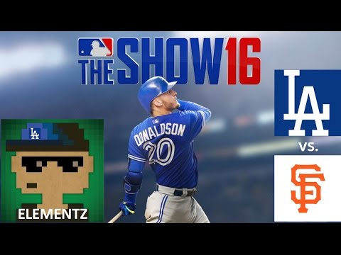 MLB The Show 16: 10/2/2016 LAD vs. SF **Game 162**