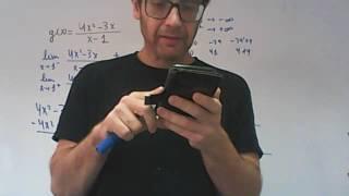 Grafica de una funcion con asintota vertical franjamanela Matematicas Academia Usero Estepona