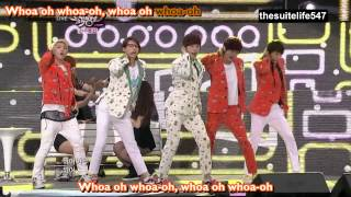 B1A4 - Baby Goodnight [Music Bank] (12.06.08) {Hangul, Romanization, Eng Sub, Fanchant}