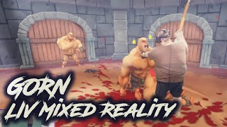 GORN VR - Flailing around and Blood -  Mixed Reality Greenscreen setup
