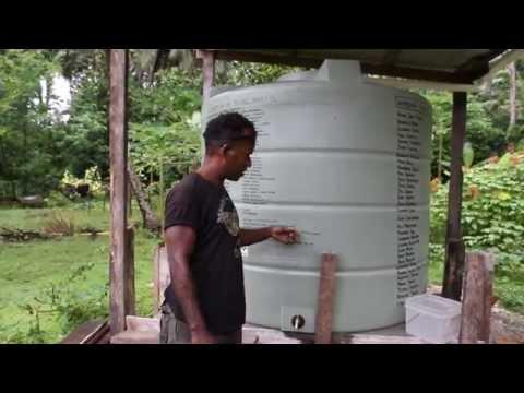 Malaita Project 2014 - Water tank