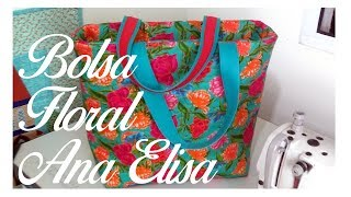 Bolsa de Tecido Floral Ana Elisa