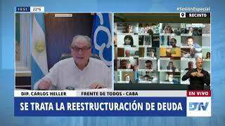 04-08-2020 - Carlos Heller - Restauración sostenibilidad deuda pública en títulos bajo ley argentina