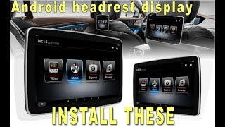 "Gambar cover 11,6"" Android touchscreen headrest display for ANY carmodel."