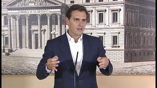 """Rivera pedirá la """"suspensión de los diputados catalanes"""" que dieron el golpe"""