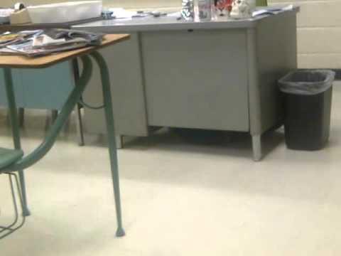 Curtis Hiding Under Teachers Desk