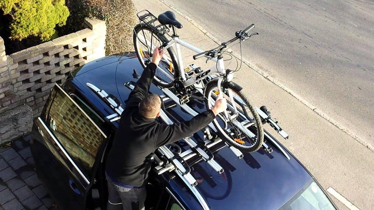 5x THULE Proride 591 Fahrradträger / Absetzen des ...