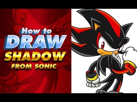 Cómo dibujar a SHADOW | How to draw Shadow | Sonic the ...