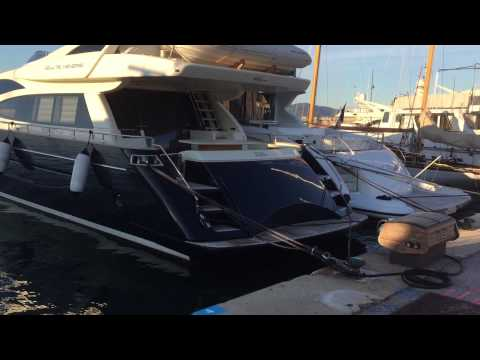 Amazing rope sound from Yacht docked at St Tropez