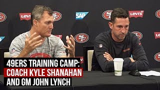 San Francisco 49ers Training Camp: Coach Kyle Shanahan, General Manager John Lynch
