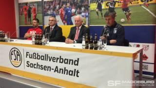 Pressekonferenz - Hallescher FC gegen 1. FC Magdeburg 2:1 (1:0) - www.sportfotos-md.de