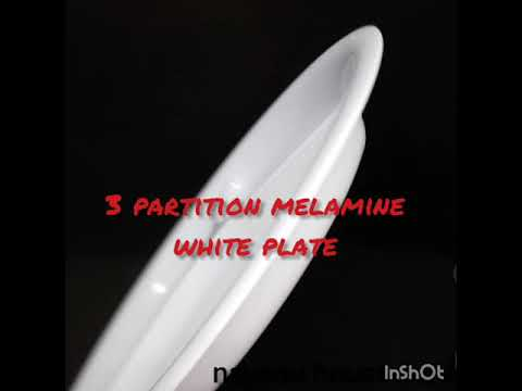 High Quality And Thickness Melamine Plate 3 Partitions(White)
