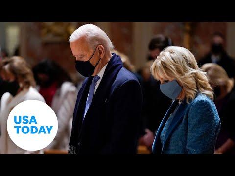 Joe Biden participates in national COVID-19 memorial   USA TODAY