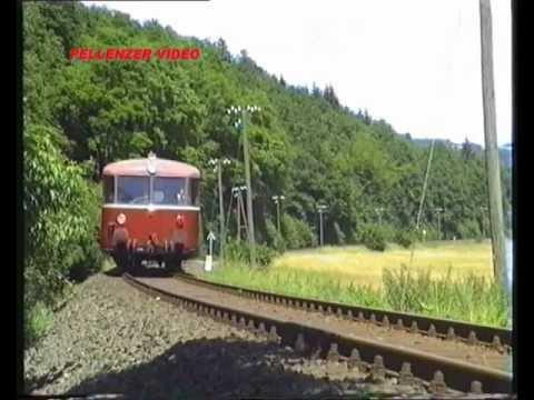 KBS 602 Bilderbogen Eifelquerbahn Andernach - Gerolstein vor 20 Jahren