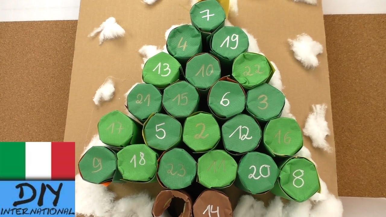 Calendario dell avvento albero di natale calendario for Calendario avvento fai da te