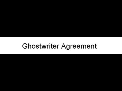 Writer Ghostwriter Agreement Gpc