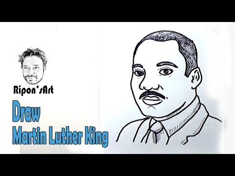 How to Draw Martin Luther King easy  | Ripon's art